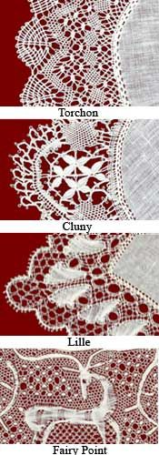 Belgian Laces: Torchon, Cluny, Lille and Fairy Point Laces described ... names other continuous thread laces