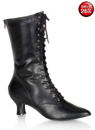 Victoriana mid calf boots UK 5.5 or 7.5 from Gothic Clothing UK by Drac-In-A-Box