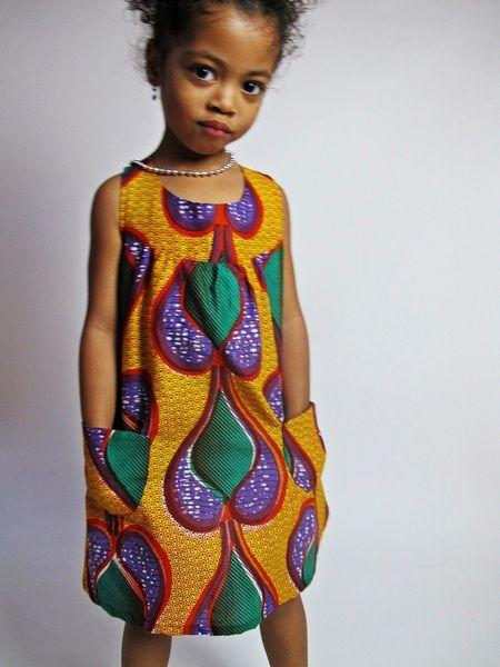 Kinder Kleid (Abena) - Malaika Designs - Kinderkleding