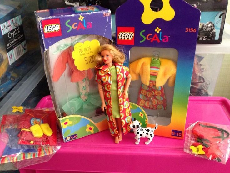 Rare Lego Scala Doll And Outfits 3101 3156 And Dog | 6.51+3.5