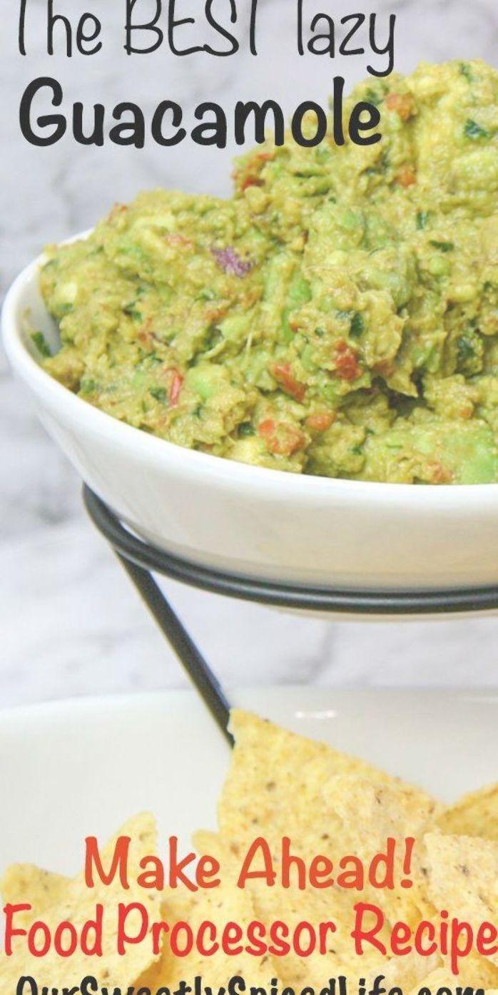 La MEJOR receta de guacamole perezoso: ¡un aperitivo o salsa rápida, fácil y saludable! Use una comida p …   – food processor