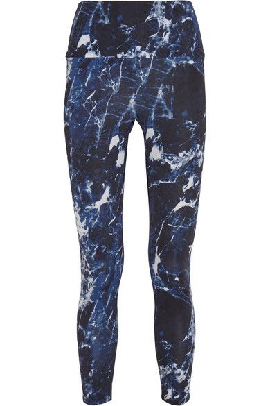 Norma Kamali - Printed Stretch-jersey Leggings - Royal blue - x small