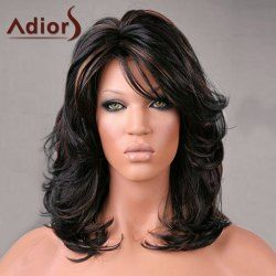 Buy wholesale adiors medium side bang highlight shaggy slightly curled synthetic wig colormix for $14.91 from China synthetic wigs wholesaler. Online christmas party wigs and side tie bikini with best quality,cheap price and fast delivery on Rosewholesale.com.