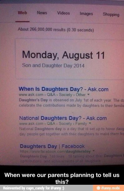 "Seriously I've been telling my parents that there should be a ""children's"" day for my whole life and there is one!"