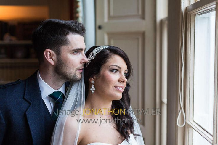 Glencorse House wedding photos - Lauren and Wayne - the newly-weds inside Glencorse House
