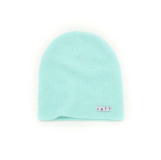 A simple Neff sky blue beanie is perfect for a casual outfit and will keep your head warm.