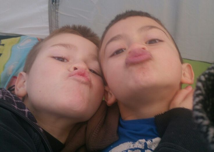 Kisses from the future owners of Snow Golf Inc. AJ AND CHE in training :-)