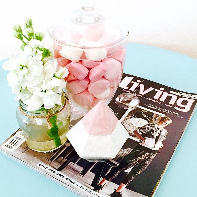 this gorgeous concrete diamond from @shyloconcrete  #concretehomewares #concretediamond#homestyling #homeinspo #pocketofmyhome #myhomestyle #styling #interiors #interiorstyling #decor #homeideas #flowers#candy#reallivingmag #cornerifmyhome #shoplocal#sharemystyle #style #pink#mystyle#homewares #homedecor #diamonds #concretecrush#marshmallow