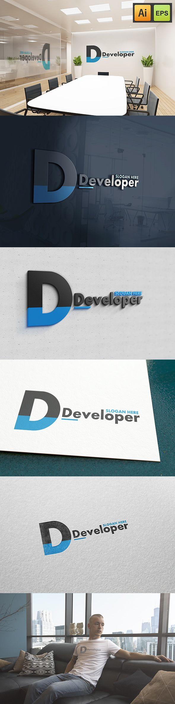 "@Behance projeme göz atın: ""D Letter Logo - Developer Logo""…"