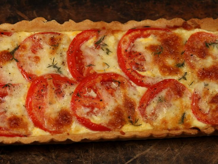 Tarta+cu+rosii+si+mozzarella