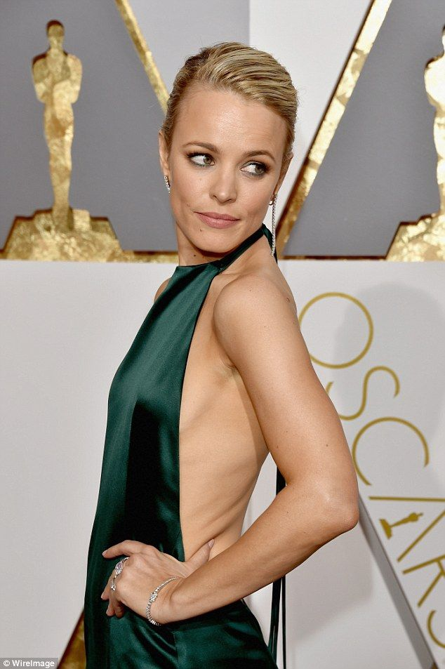 Slim: The Canadian-born actress took another moment to show off her bare and slender waist...