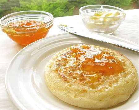 Recipe: Crumpets.  This recipe looks really promising.  Careful to use the instant yeast it calls for.