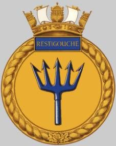 dde 257 hmcs restigouche crest insignia patch badge destroyer escort royal canadian navy