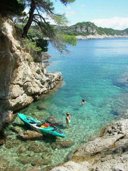 Croatian coast by kayak - More at Sea Kayaking Rovinj Islands http://www.huckfinncroatia.com/activities/sea-kayaking-rovinj.php (Thx Lea)