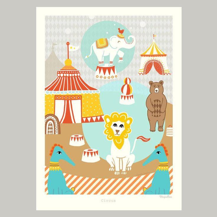 Majvillan ~ Circus poster 50x70 cm - SovrumsShoppen.se