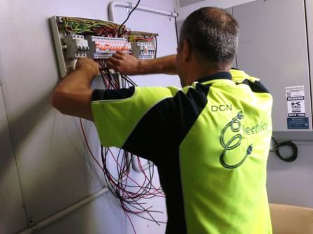 Electrical Contractor Hard at work in Sydney