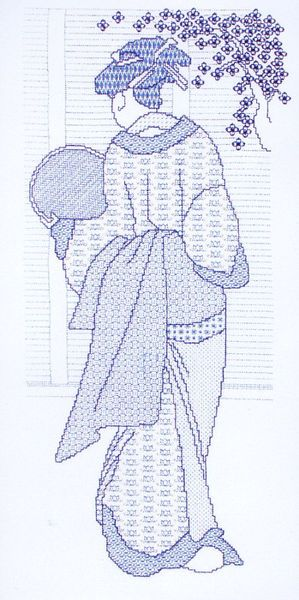 japanese lady blackwork