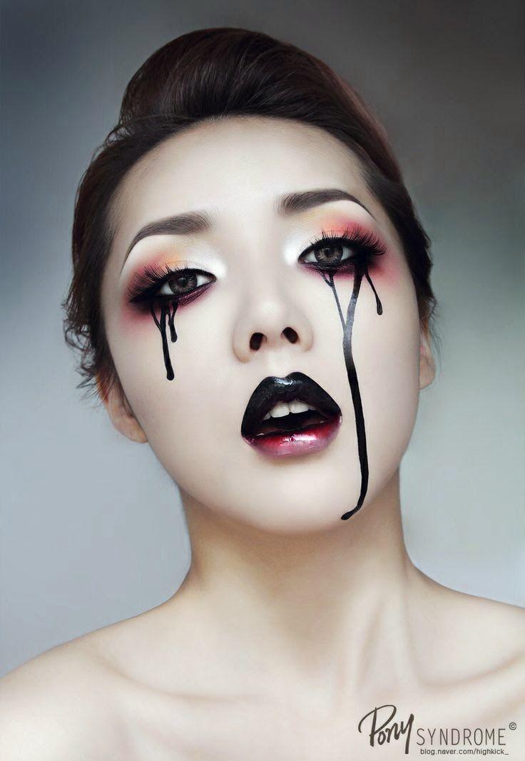 I imagine this with rainbow eye shadow.  Black Tears _ #Pony Syndrome#