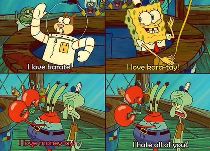"Squidward = me when people go on and on about who their ""favorite"" is... < i hate you all who hate my spongebob board"