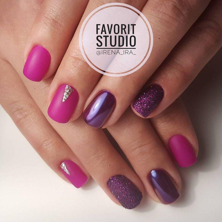 18 отметок «Нравится», 2 комментариев — Irena (@irena_ira_) в Instagram: «Fina naglar för en fin tjej💅💖 Snygg färg, glitter, matt top. #naglar #finanaglar #snygganaglar…»