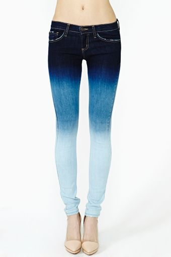 Easy Fade Skinny Jeans. Okay, I would actually wear these for my love of jeans and my love of blue!