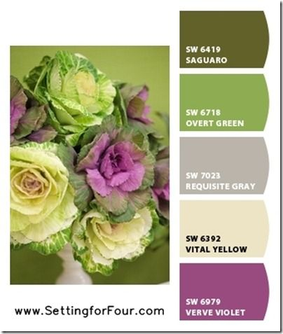 Pink Color Palettes using Sherwin Williams Chip It! r.