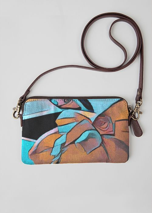 Leather Statement Clutch - Sun on the Rise by VIDA VIDA TeGgO