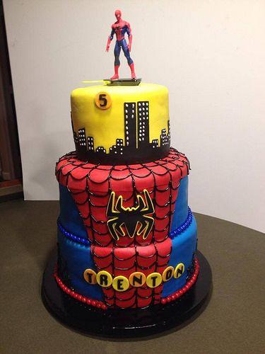 spiderman 3 tier birthday | cake lady wpb | Flickr