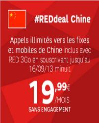 L'offre #SFR #RedDeal: Deux destinations internationales à appeler gratuitement chaque mois