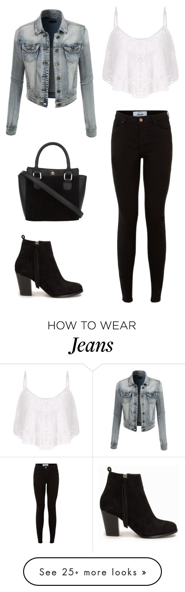 """""""Jeans and Black"""" by hotchickhayastan on Polyvore featuring LE3NO and Nly Shoes"""