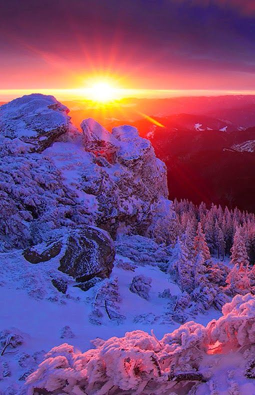 Ceahlau sunset