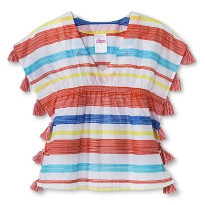 Our 2015 infant/toddler swim collection is hitting the floors now! Girls' Striped Cover Up