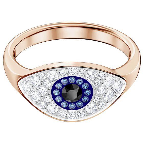 172ccbd1759d Anillo Swarovski Symbolic Evil Eye, multicolor, Baño en tono Oro ...