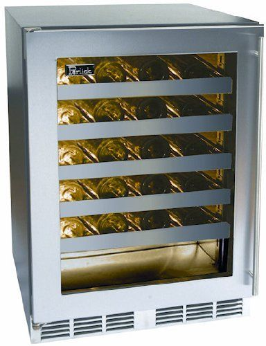 Perlick Panel Ready Built In Wine Cooler HC24WB4R by Perlick. $2199.00. Perlick Panel Ready Built In Wine Cooler HC24WB4R. 48 bottle capacity. Extra storage under shelves for up to 5 additional bottles. Stainless steel ball bearing glides provide smooth movement of shelves. Shelves are removable and adjustable to accommodate oversized (magnum) bottles. Cabinet construction eliminates vibration transfer to reserve. Wine reserve temperature 40 - 65 degrees F. Designed with fu...