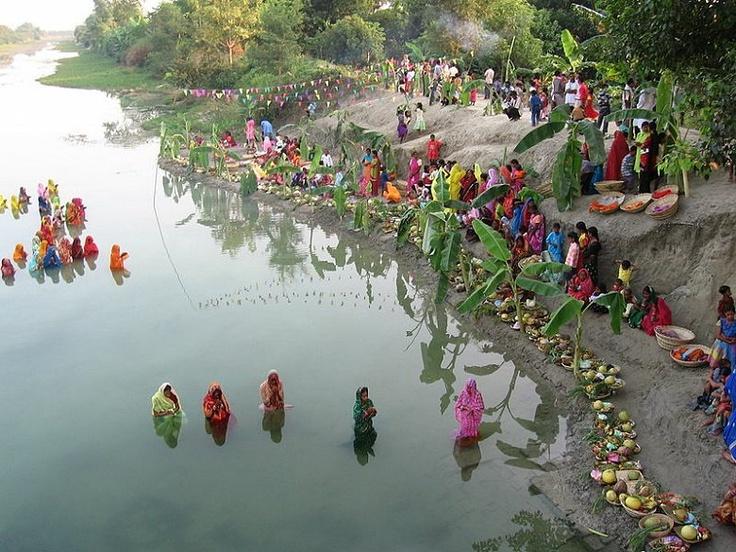 Chhath Ghat festival in Muzaffarpur, Bihar, India