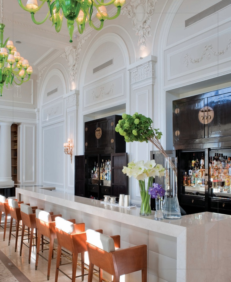 Beautiful bar with unique storage.Bar Design, Lights Fixtures, Grand Hotels, Cap Ferrat, S'Mores Bar, Glasses Chandeliers, Restaurants Bar, Home Bar, Bar Stools