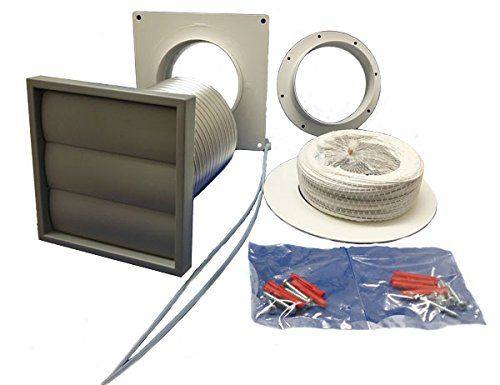 Manrose - Tumble Dryer Venting Kit With Gravity Grille
