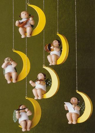 German Christmas Tree Ornaments, BBH650-80 Miniature Angel Musician ...www.alilbitoeurope.com