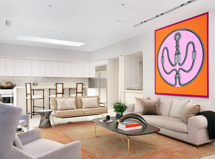 Bright frame for the living room! Interior design by R Brant.