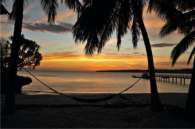 An atmosphere of relaxation on quiet, private Baloiya Beach - Selayar Island Resort - 9 kms from Benteng Photo by David Metcalf.