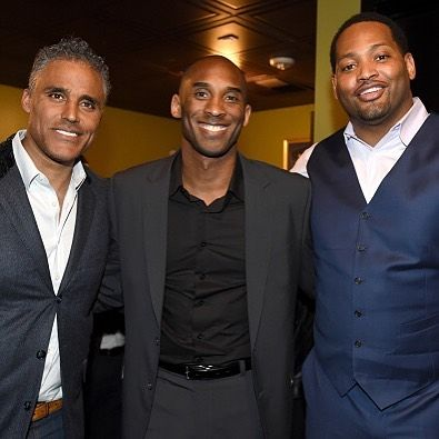Kobe Bryant and former Lakers teammates Robert Horry and Rick...