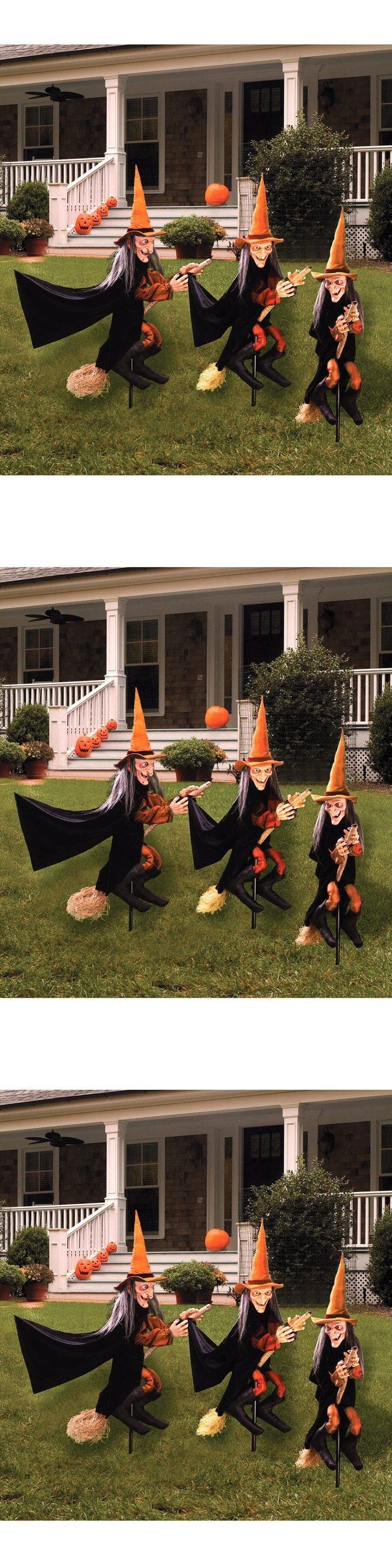 Halloween 170094: Group Of Spooky Witch Halloween Lawn Props Outdoor Yard Decoration Scary New -> BUY IT NOW ONLY: $67.92 on eBay!