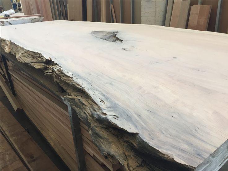 Iroko slab with stunning live edge #woodwork #woodslab #iroko #tablemountingco #capetown