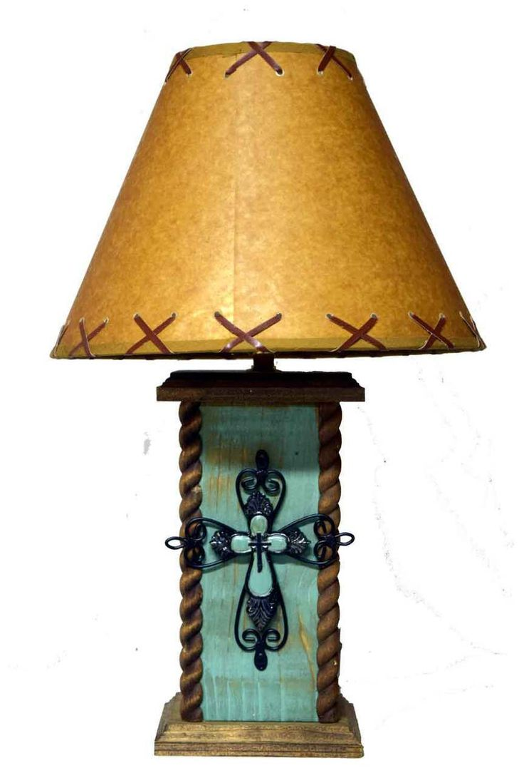 Western table lamps - 18 Turquoise Table Lamp