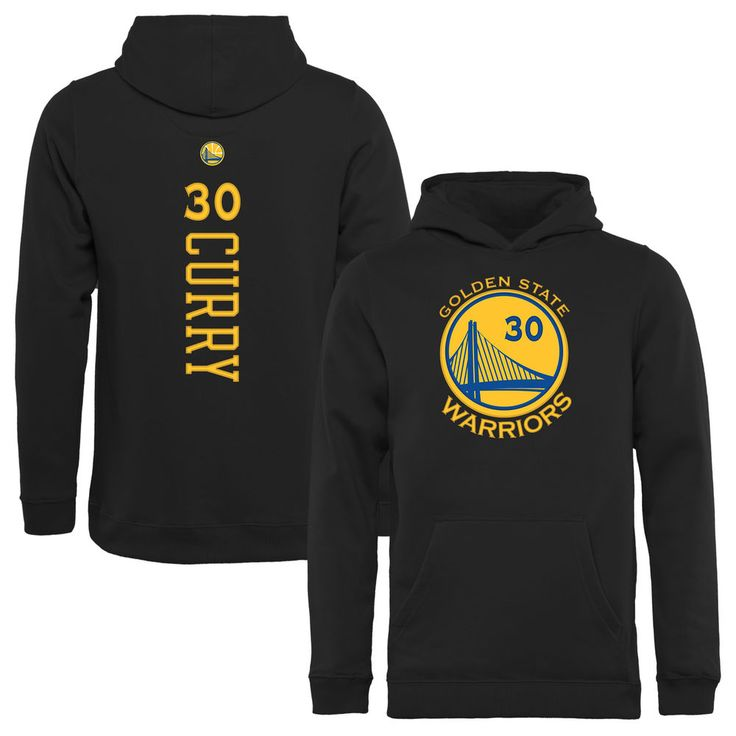 Youth Golden State Warriors Stephen Curry Black Backer Pullover Hoodie