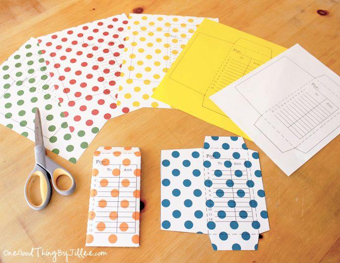 Cute DIY envelope template
