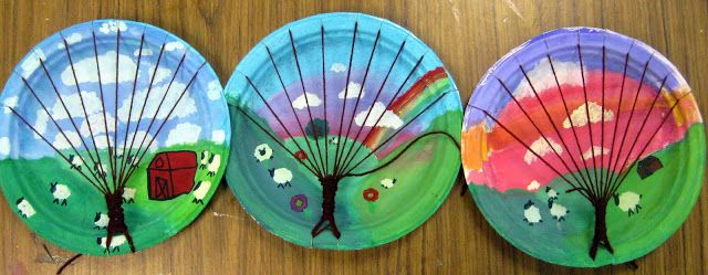 Cassie Stephens: In the Art Room: Tree Weaving with Third Grade - love this idea to do with kids