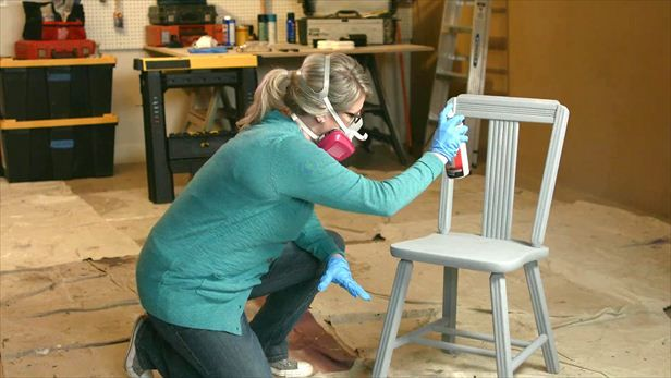 Repaint Painted Wood Kitchen Chairs
