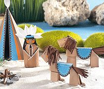 Folded paper native american project - site is in German, but the links go to photo instructions.