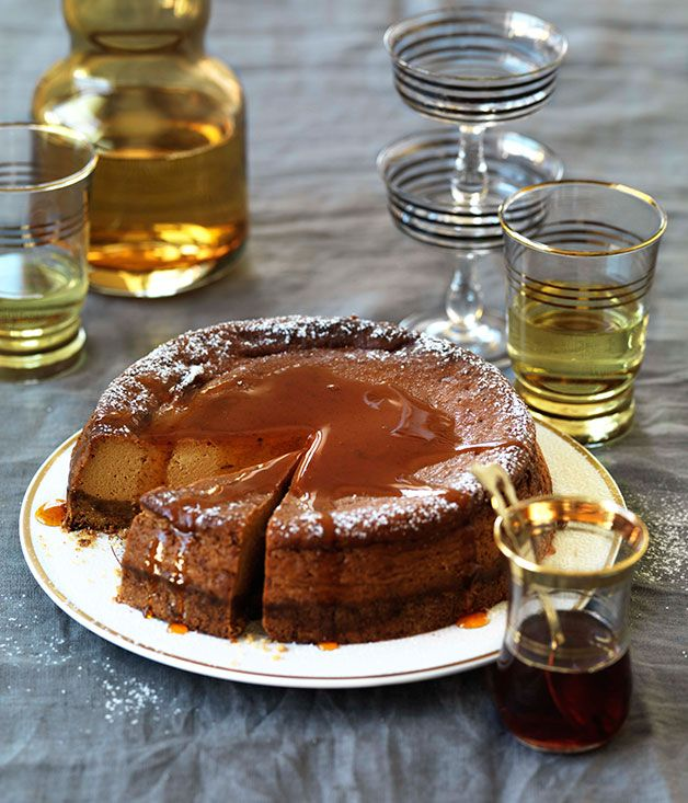 Australian Gourmet Traveller recipe for caramel yoghurt cheesecake